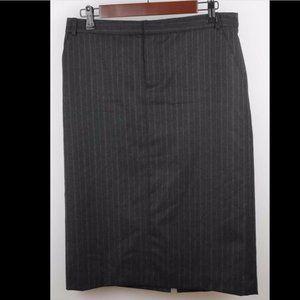 BANANA REPUBLIC Gray Pin Stripe Wool Pencil Skirt